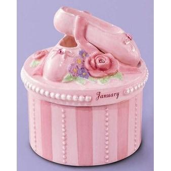 Russ A Time to Dance Classics January Ballerina Trinket Box - Pink