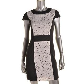 Kensie Womens Crepe Patterned Wear to Work Dress - M