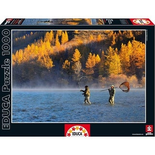 Two Men Fishing 1000 Piece Puzzle