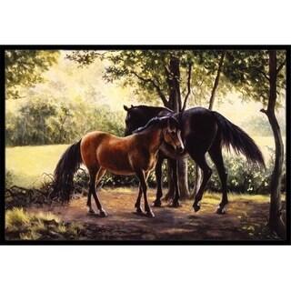 Carolines Treasures BDBA0055MAT Horses by Daphne Baxter Indoor or Outdoor Mat 18 x 27