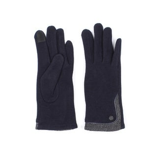 Womens Herringbone Lined Texting Gloves