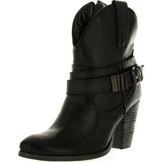 Volatile Womens Harvey Western Boots - Black