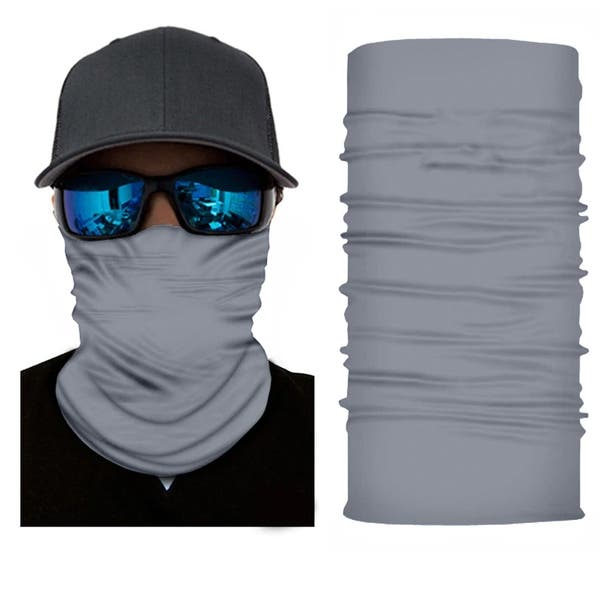 9 Colors 9 Pieces Summer Face Cover UV Protection Neck Gaiter Breathable Elastic Scarf Bandana for Women and Men