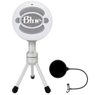 Blue Microphones Snowball iCE Versatile USB Microphone w/ Pop Shield Wind Screen