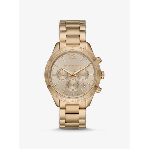 Oversized Layton Gold-Tone Watch - One Size