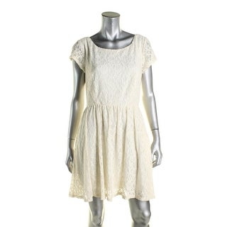 B. Darlin Womens Juniors Casual Dress Lace Pleated
