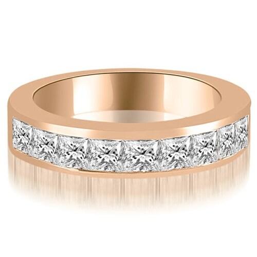 1.26 cttw. 14K Rose Gold Princess Diamond 9-Stone Channel Wedding Band