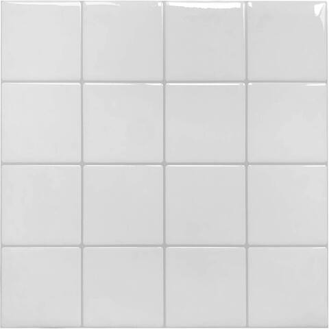 """Art3d 11.4"""" × 11.4"""" Vinyl Peel and Stick Backsplash Tile (10-Pack) Squre Chessboard"""