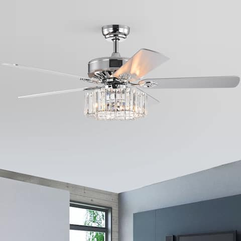 """52"""" Mira 5 Blade Chandelier Ceiling Fan with Remote Control and Light Kit Included"""