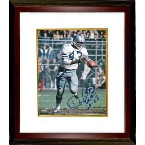 Don Perkins signed Dallas Cowboys 8x10 Photo 60-68 Custom Framed