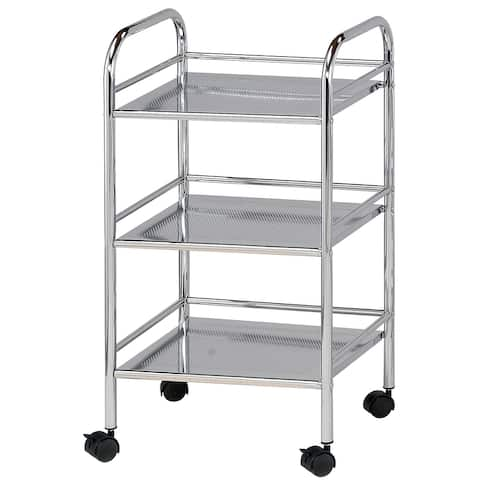 Alvin sh3ch storage cart 3-shelf chrome