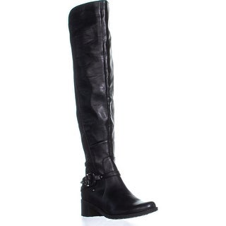 Marc Fisher Kemos2 Belted Ankle Over the Knee Boots, Black Multi - 6 us