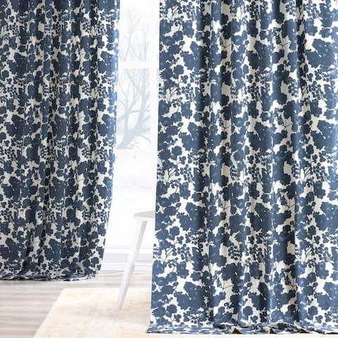 Exclusive Fabrics Fleur Cotton Printed Single Curtain Panel