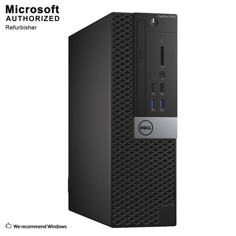 Dell 7040 SFF Intel i5-6500 3.20GHz, 8GB RAM, 360GB SSD, DVD, WIFI, BT 4.0, HDMI Adapter, DP, WIN10P64(EN/ES)-Refurbished