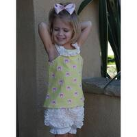 La Petite Couture Baby Girls 6M Pink Dot Ruffle Lined Bloomer Shorts