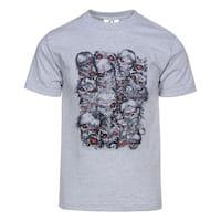 Mens Skull Monsters Faces Short-Sleeve T-Shirt