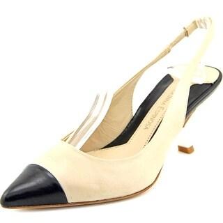 Carolinna Espinosa Carina Pointed Toe Leather Slingback Heel