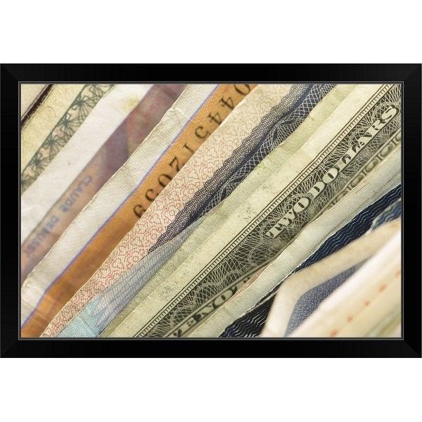 """International currency"" Black Framed Print"