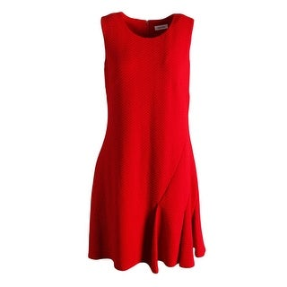 Calvin Klein Womens Textured Sleeveless Wear to Work Dress