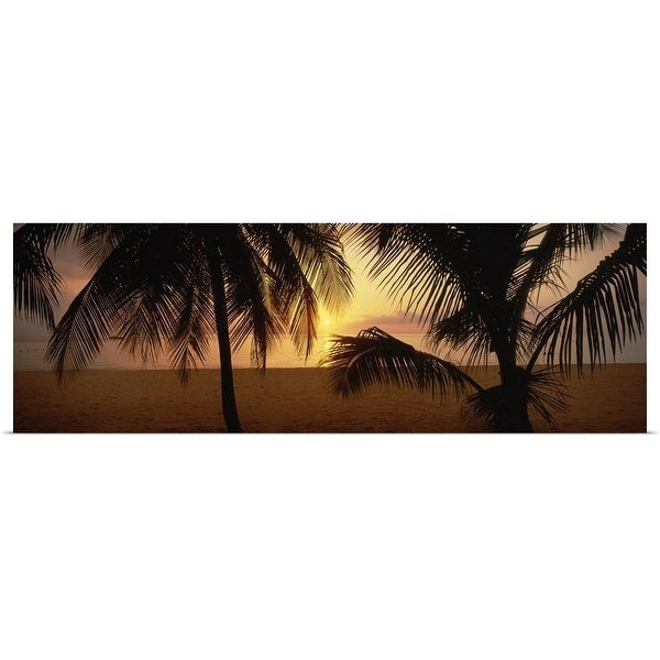 """Sunset on 7-Mile Beach, Negril, Jamaica"" Poster Print"