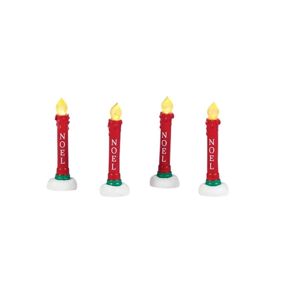 "Department 56 Snow Village LED Lighted ""Lit Candles Yard Decor"" Accessory #4038811"