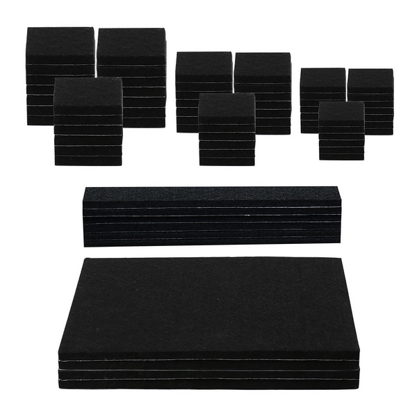 70pcs Furniture Pads Self-stick Non-slip Anti-scratch Felt Pads for Table Chair Leg Floors Protector Black