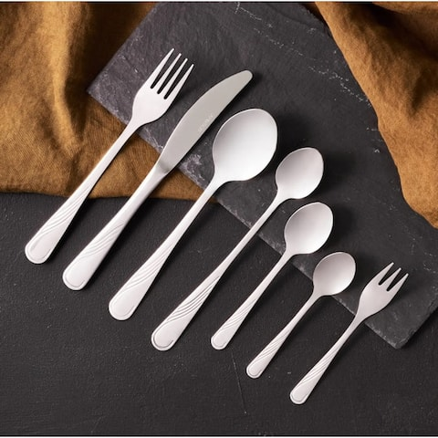 NAPLES Stainless Steel Flatware set in a case, 72 pcs