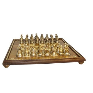Camelot Pewter Chess Set - Multicolored
