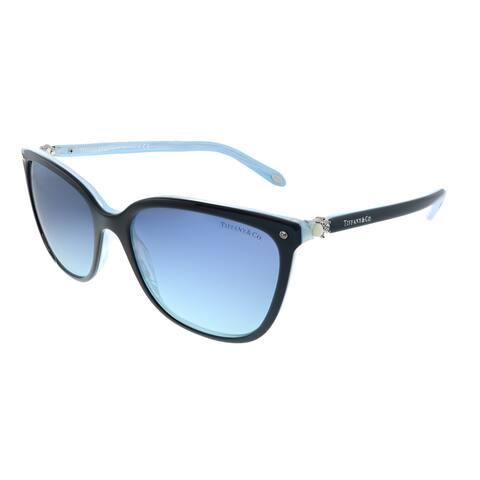 Tiffany & Co. TF 4105HB 81939S Womens Black on Blue Frame Blue Gradient Lens Sunglasses