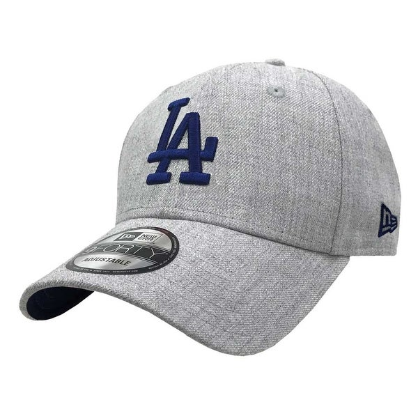 timeless design 085ce d799c Shop New Era 2019 MLB Los Angeles Dodgers Baseball Cap Hat 9Forty Adjust  Heather Gray - Free Shipping On Orders Over  45 - Overstock - 27093362