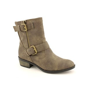 Chinese Laundry Riding Hood Women Round Toe Synthetic Gray Mid Calf Boot