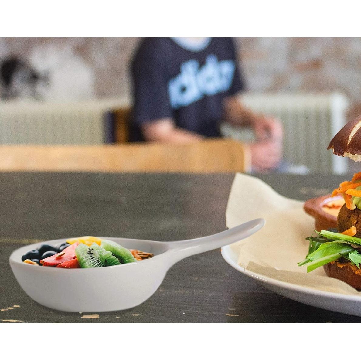 4X Sauce Dishes Melamine Round Appetizer Plates Seasoning Dish Food Dipping Bowl