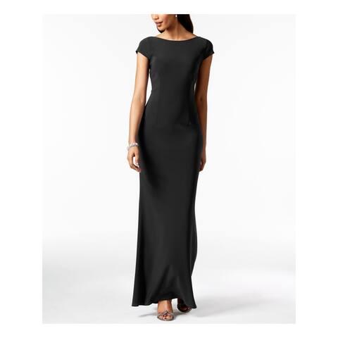 BETSY & ADAM Black Sleeveless Full-Length Dress Size 6