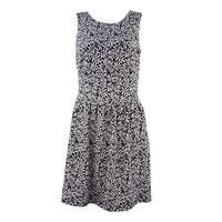 Ivanka Trump Women's Leaf Print A-Line Dress
