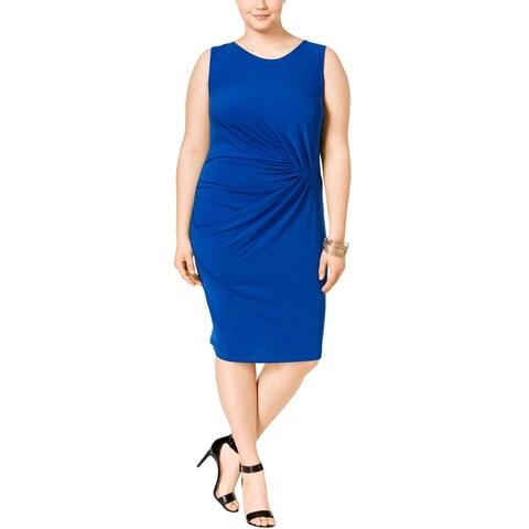 Junarose Womens Plus Casual Dress Gathered Sleeveless