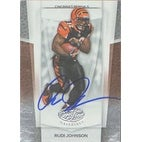 Rudi Johnson Cincinnati Bengals 2007 Leaf Certified Materials Autographed Card Nice Card This ite
