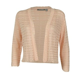 NY Collection Women's Knit Design Open Front Cardigan - s