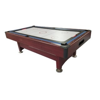 8' Recreational 2-in-1 Pool Billiards and Hockey Game Table - brown