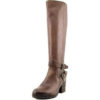 Steve Madden Olyvvya Women Round Toe Leather Knee High Boot