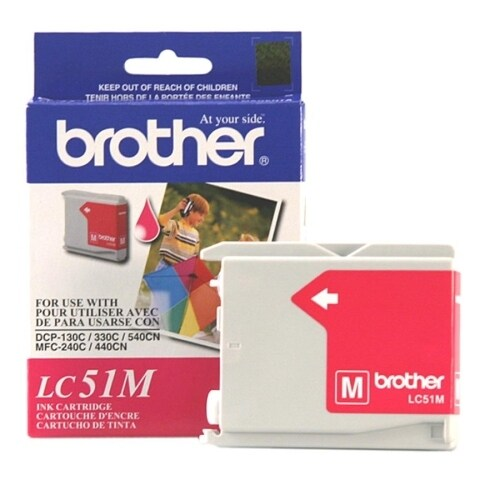 """Brother LC51M Brother Magenta Inkjet Cartridge For MFC-240C Multi-Function Printer - Magenta - Inkjet - 500 Page Black, 400"