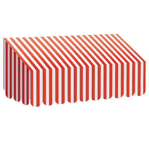 Red & White Stripes Awning, Pack of 3 - One Size