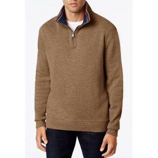 Tommy Hilfiger NEW Brown Mens Size XL 1/2 Zip Long Sleeve Sweater