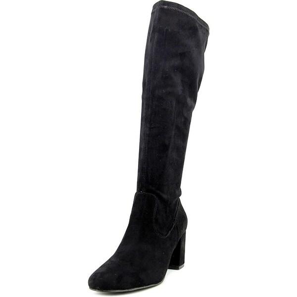 Diba Brodie 199213 Women Round Toe Canvas Black Knee High Boot