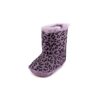 Ugg Australia I Cassie Leopard Infant Round Toe Suede Purple Winter Boot