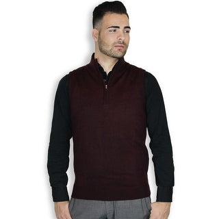 Quarter Zipper Sweater Vest