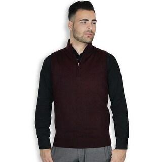 Quarter Zipper Sweater Vest (More options available)