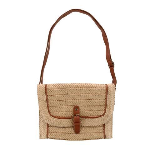 Sun N Sand Women's Paper Straw Weave Crossbody Handbag - one size