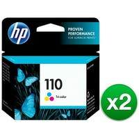 HP 110 Tri-color Original Ink Cartridge (CB304AN)(2-Pack)