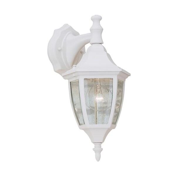 "Designers Fountain 2461-WH 1-Light 7"" Cast Aluminum Wall Lantern - White - n/a"