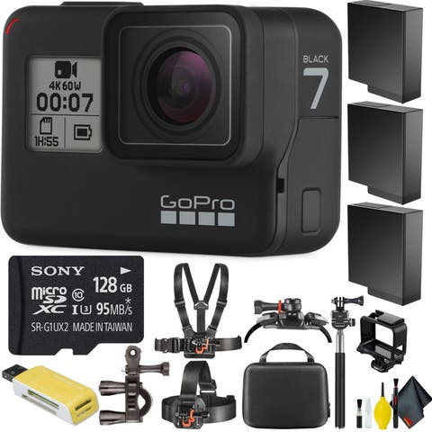 GoProHERO7 Black + Cleaning Kit + 128GB Memory Card
